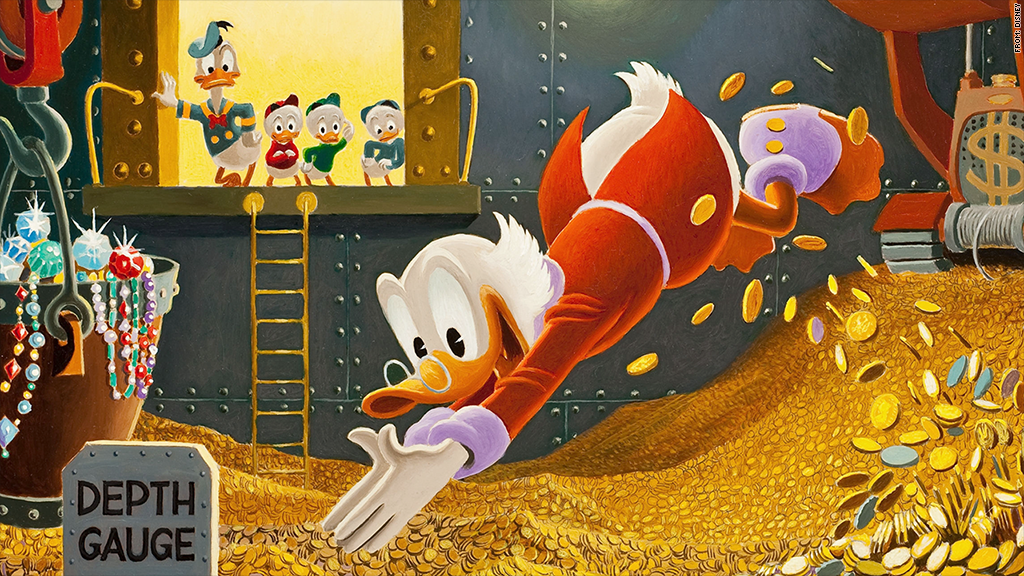 scrooge mcduck diving for keywords